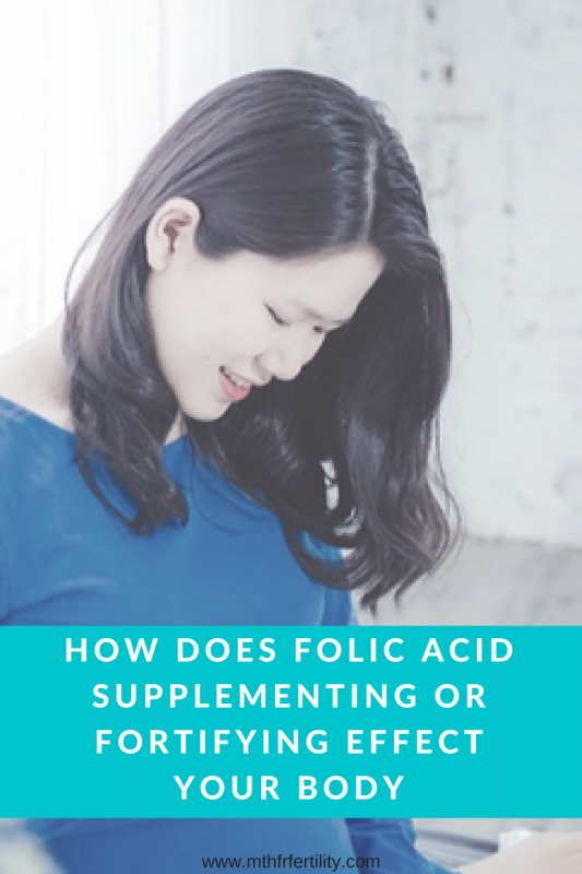 Folic acid supplements effect on the body
